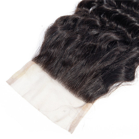 4x4 Human Hair Lace Closure Deep Wave