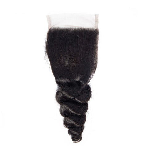 4x4 Human Hair Lace Closure Loose Wave