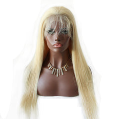 Lace Front Human Hair Wigs Straight 613#