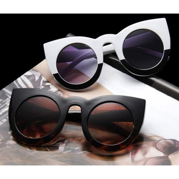Funky Cat Eye UV400 Fashion Sunglasses for Women - Sunglasses