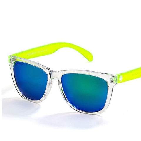 Funky Pazazz COLOSSEIN UV400 Multi-color Fashion Mirror Sunglasses for Women - Green / China / Transparent - Sunglasses