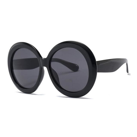 Got My Number Oversize Round UV400 Vintage Fashion Sunglasses for Women - 1 - Sunglasses