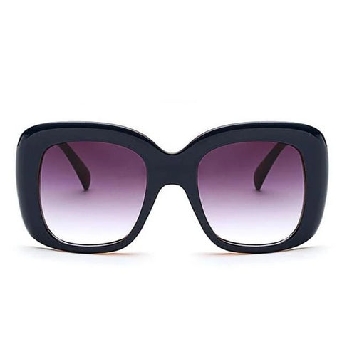 Knockout Oversize Square Fashion Sunglasses for Women - C10 Outside Blue - Sunglasses