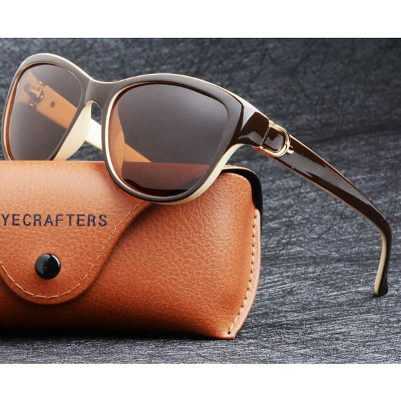 Lady Tessa Eyecrafters Cat Eye Polarized Driving Sunglasses for Women - Sunglasses