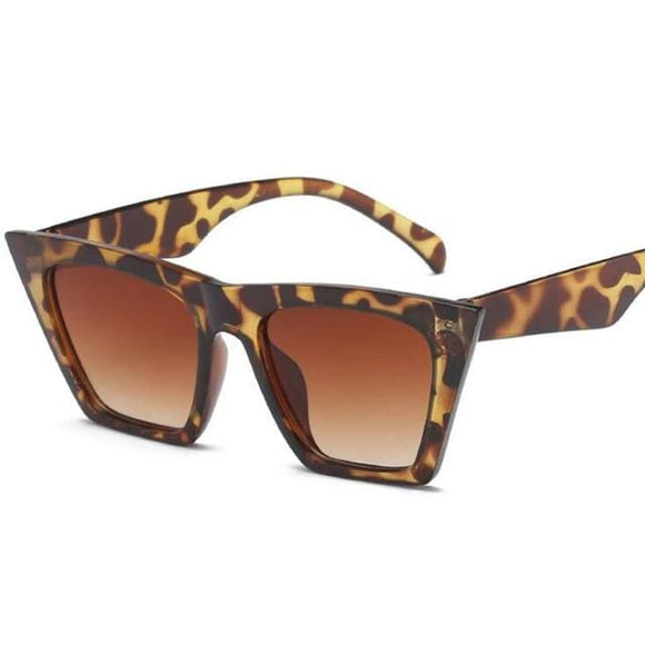 Meow Retro Cat Eye UV400 Fashion Sunglass for Women - Leopard - Sunglasses