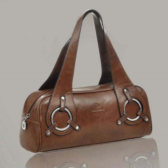 The Boston Leather Designer Fashion Womens Tote Handbag - Bag
