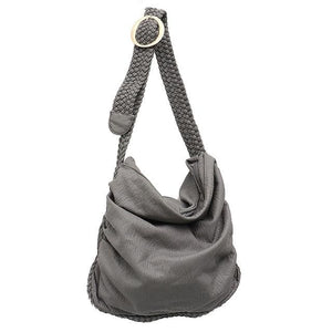 The Sophie Soft Leather Womens Shoulder Hobo Handbag - Black / 13.77 x 1.96.x 11.81 inches / 35 x 5 x 30 cm - Bag