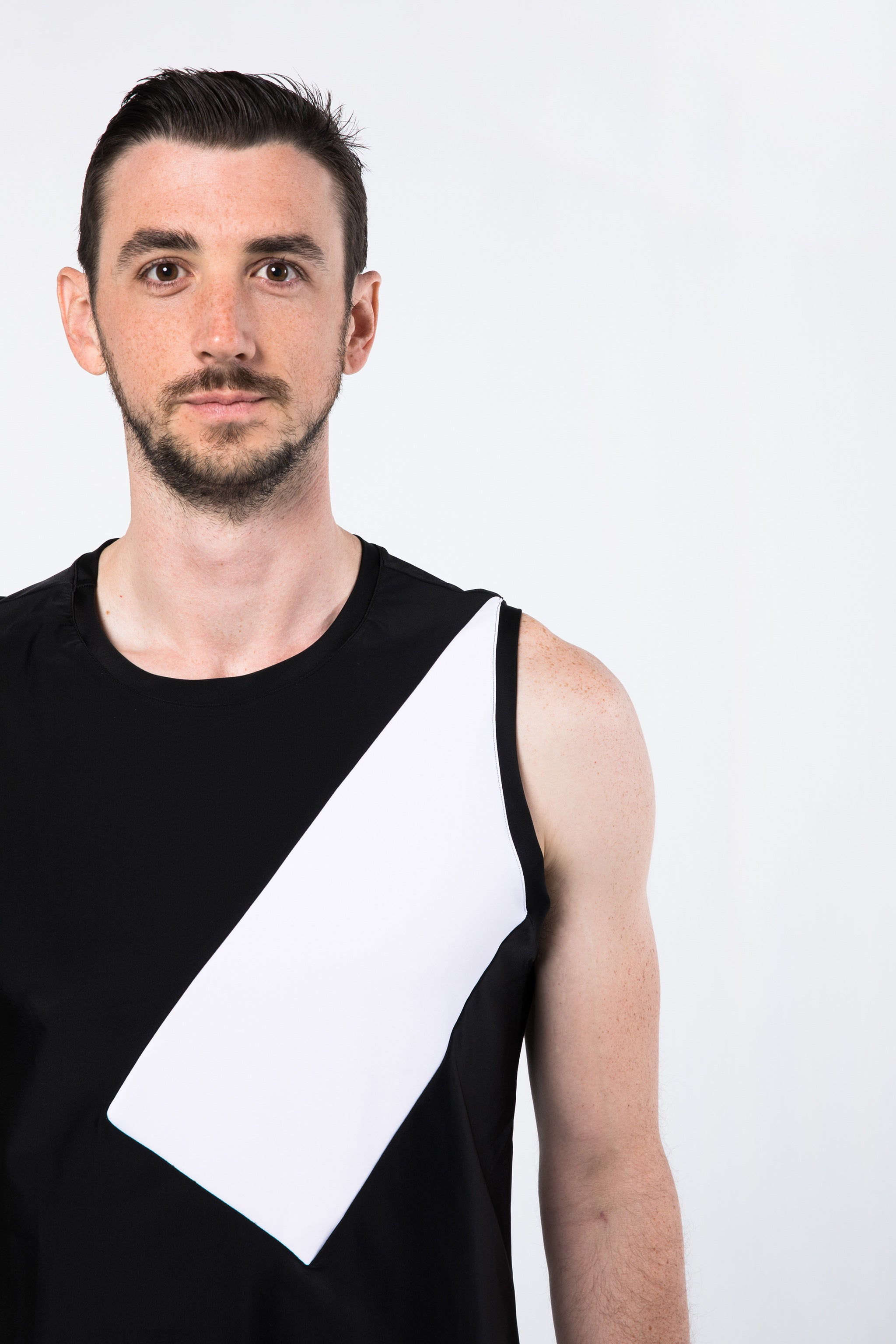 Man in Sleeveless Yoga Shirt