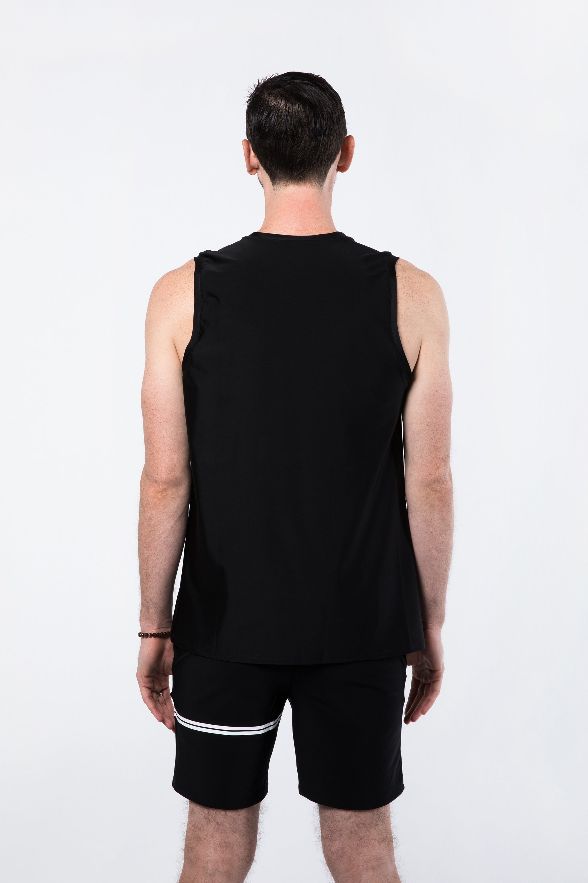 Man in Sleeveless Yoga Shirt (Back)
