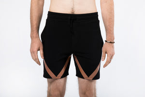 Yoga Shorts for Men with Geometric Design