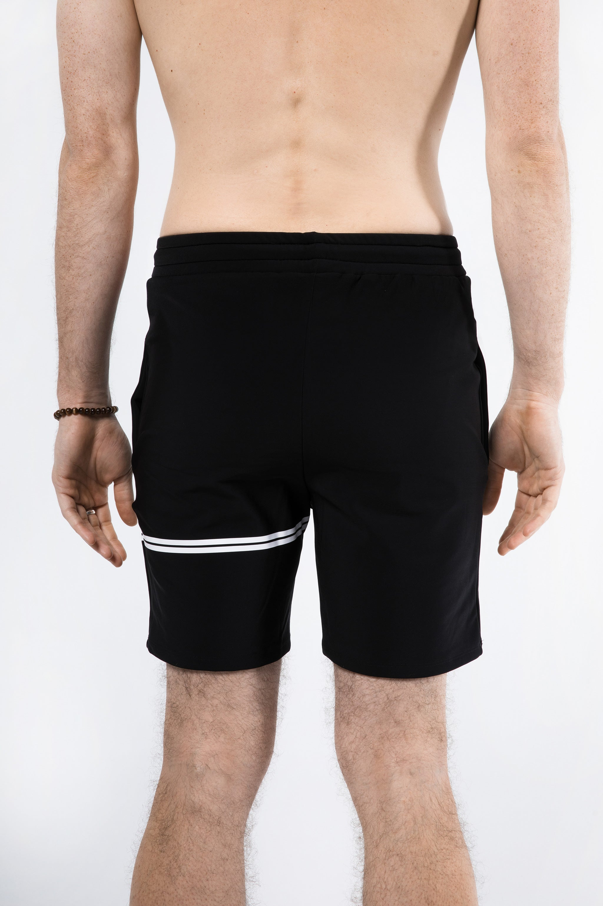 Yoga Shorts for Men, Rear View