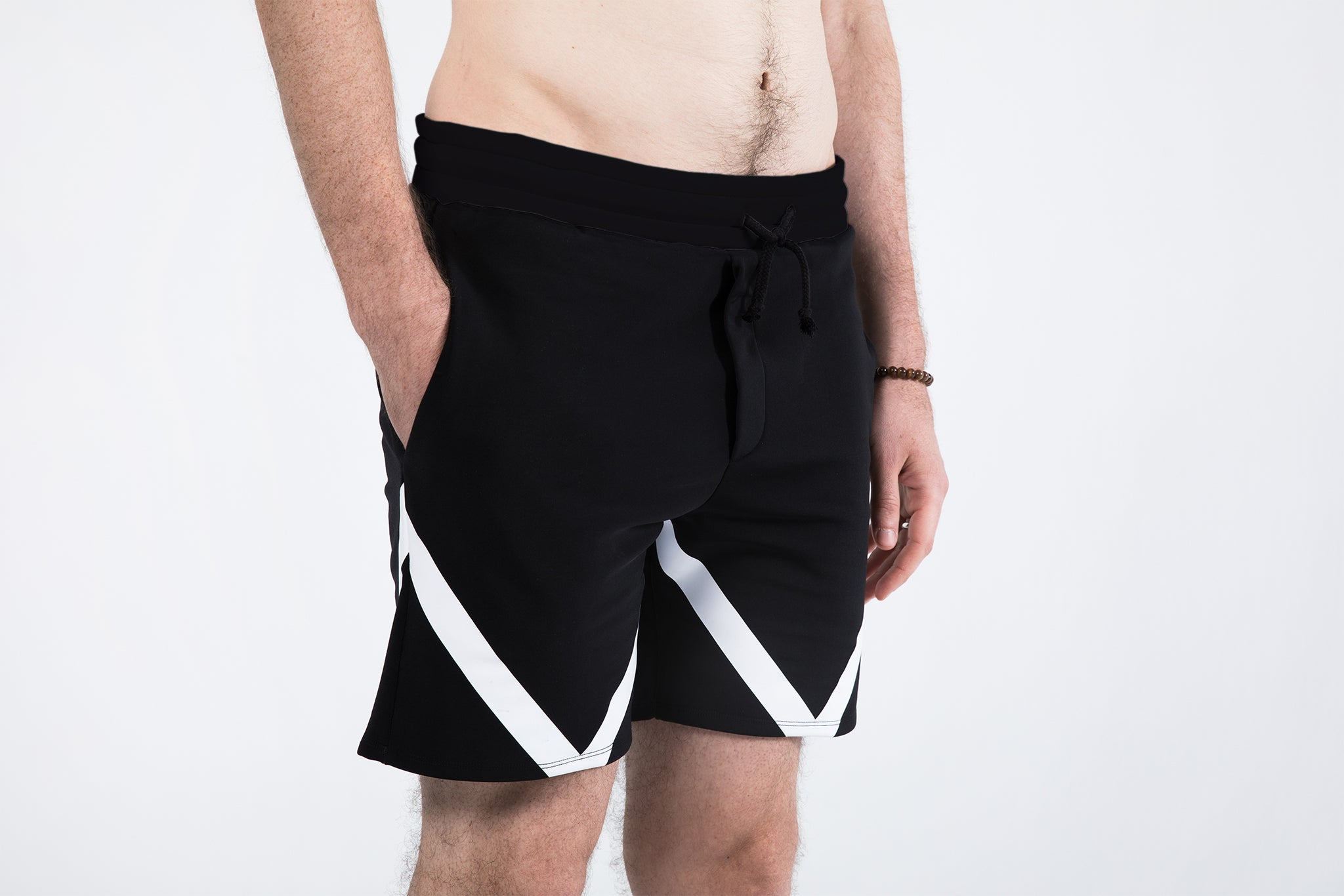 """Hercules"" Yoga Shorts For Men (White)"