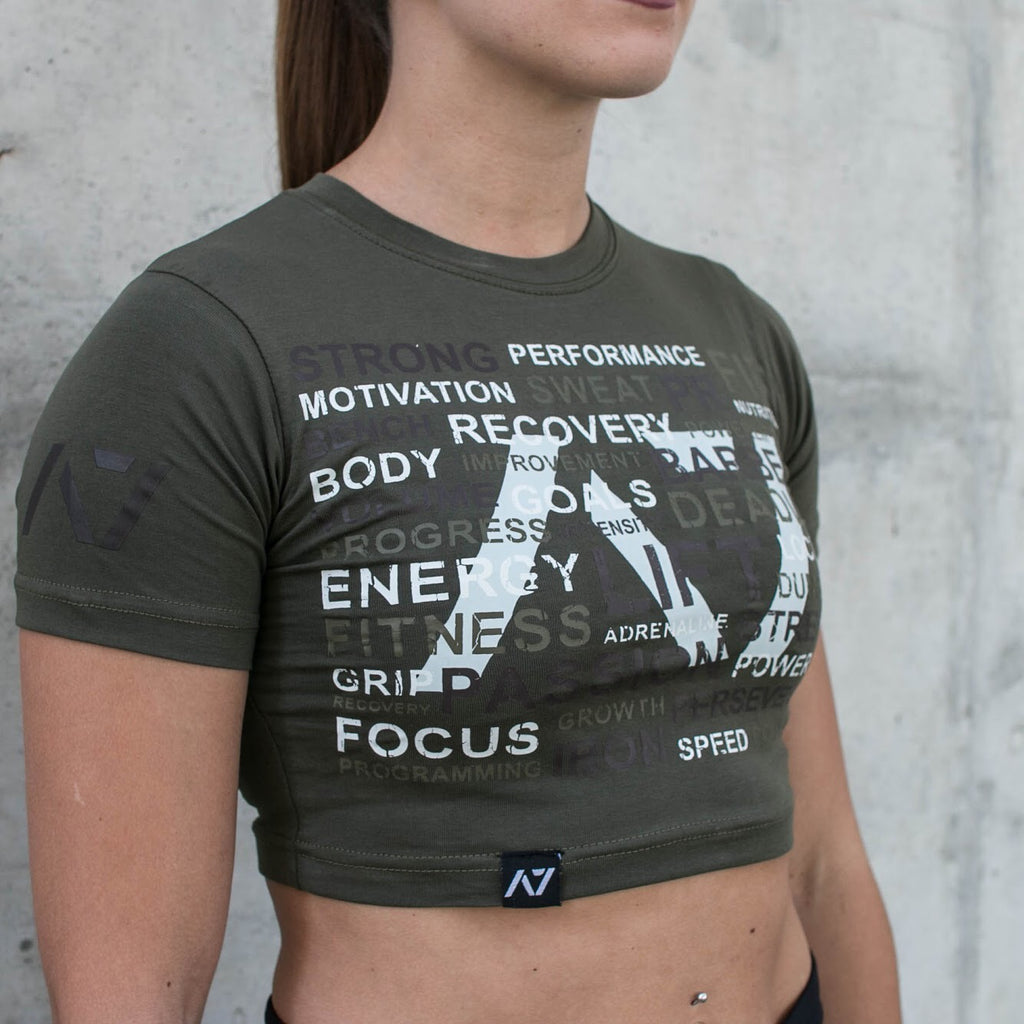 A7 Bar Grip Tシャツ『PR Military Crop Top』 Women's - A7 Japan
