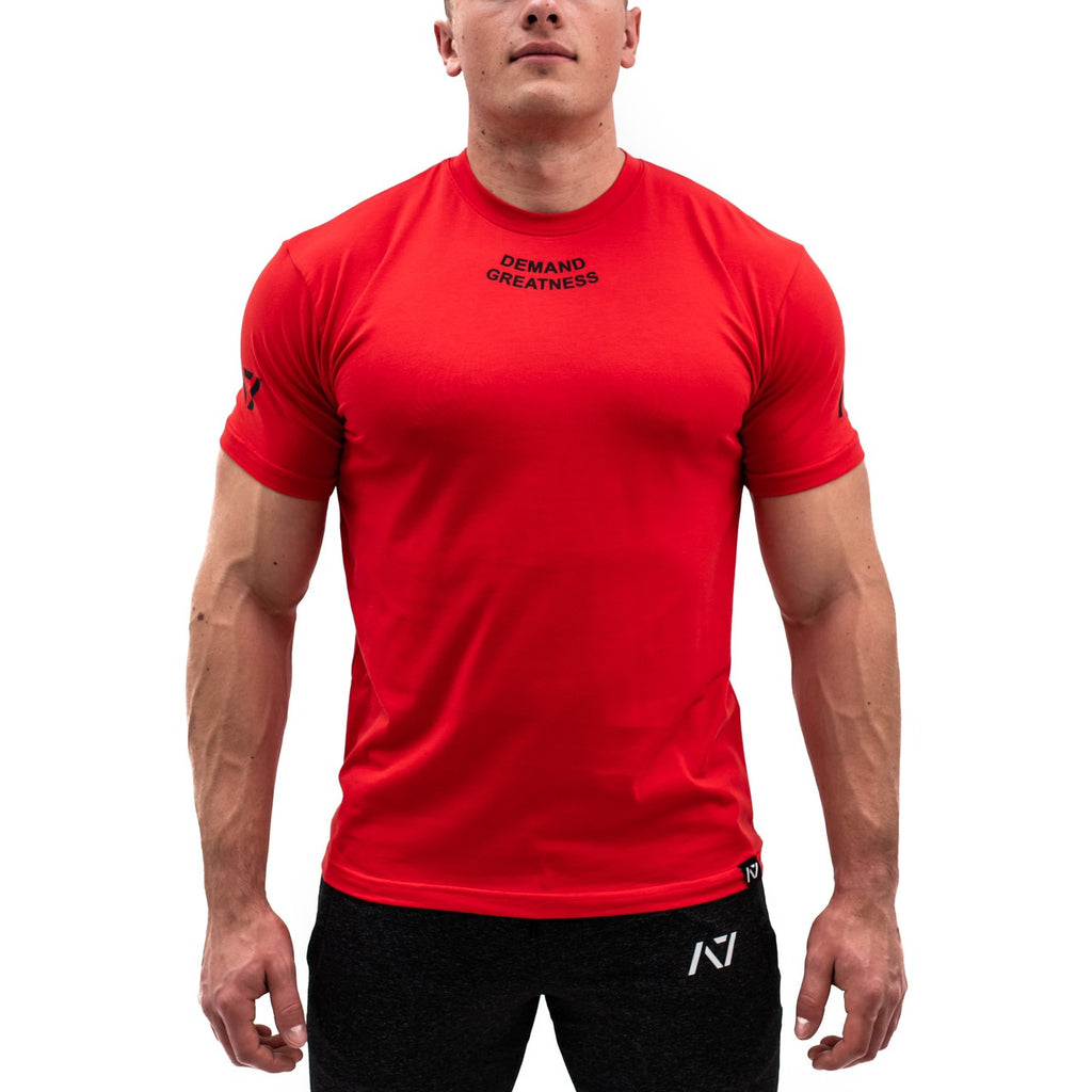 IPF approved A7 MEETシャツ『Demand Greatness』 Men's (Red) - A7 Japan