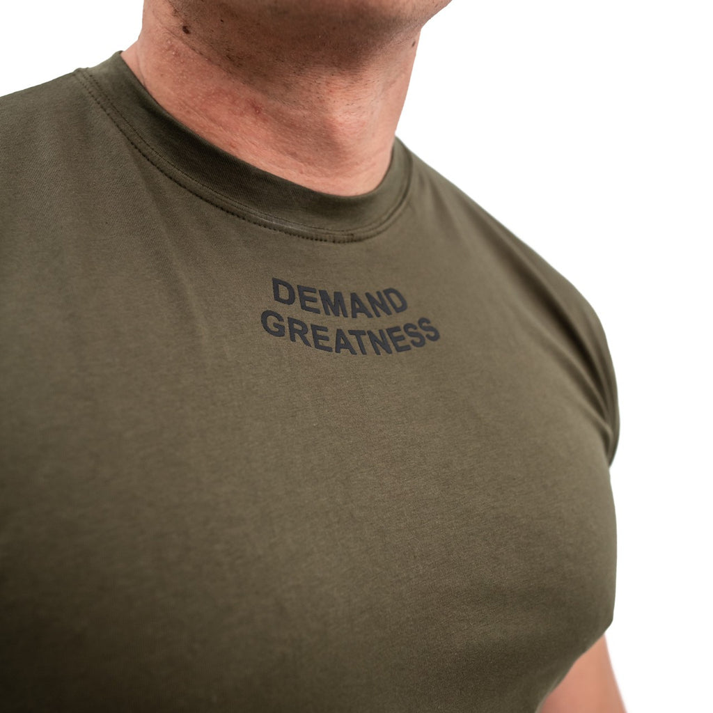 IPF approved A7 MEETシャツ『Demand Greatness』 Men's (Military) - A7 Japan
