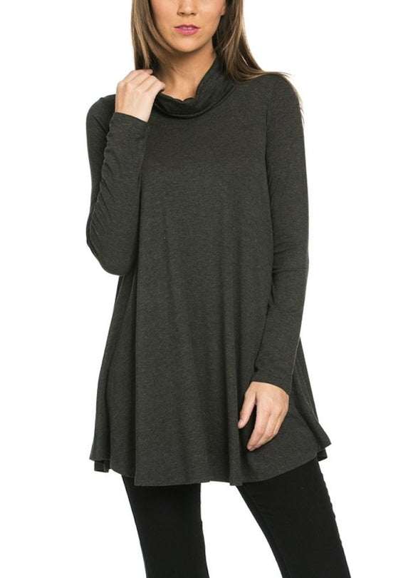 12 Ami - Turtleneck Tunic Top