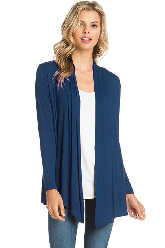 12 Ami - Basic Long Sleeve Open Front Cardigan