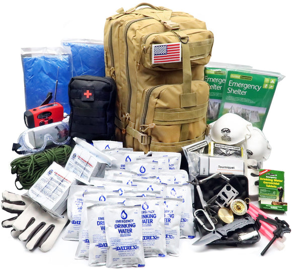 EVERLIT Emergency Survival Kit - 72 Hrs 2 Person Bug Out Bag