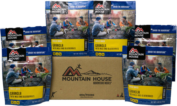 Mountain House Granola with Milk & Blueberries 6 Pack