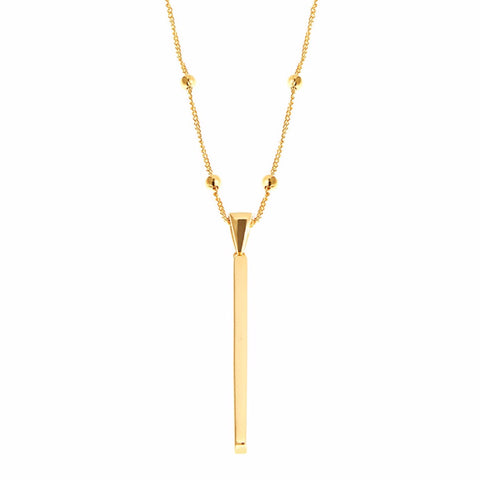 Long Chain Bar Necklace
