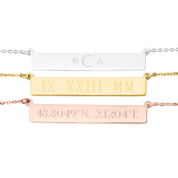 Bar Monogram Necklace