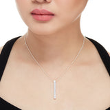 Vertical CZ Bar Necklace