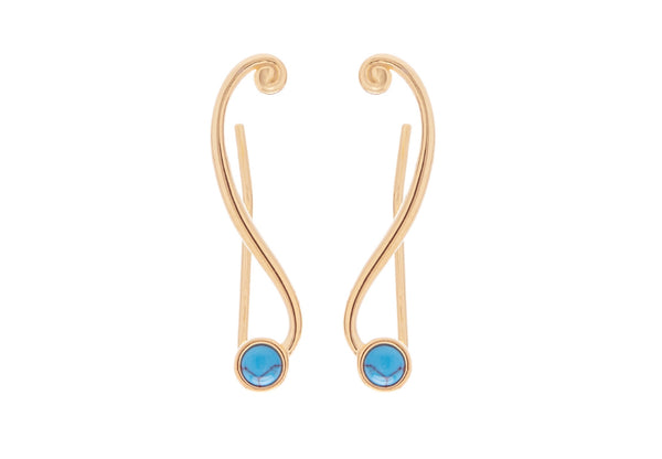 Turquoise Climber Earrings