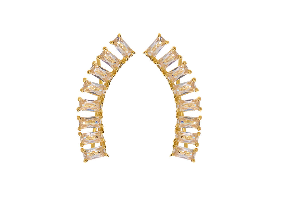 Baguette CZ Climber Earrings