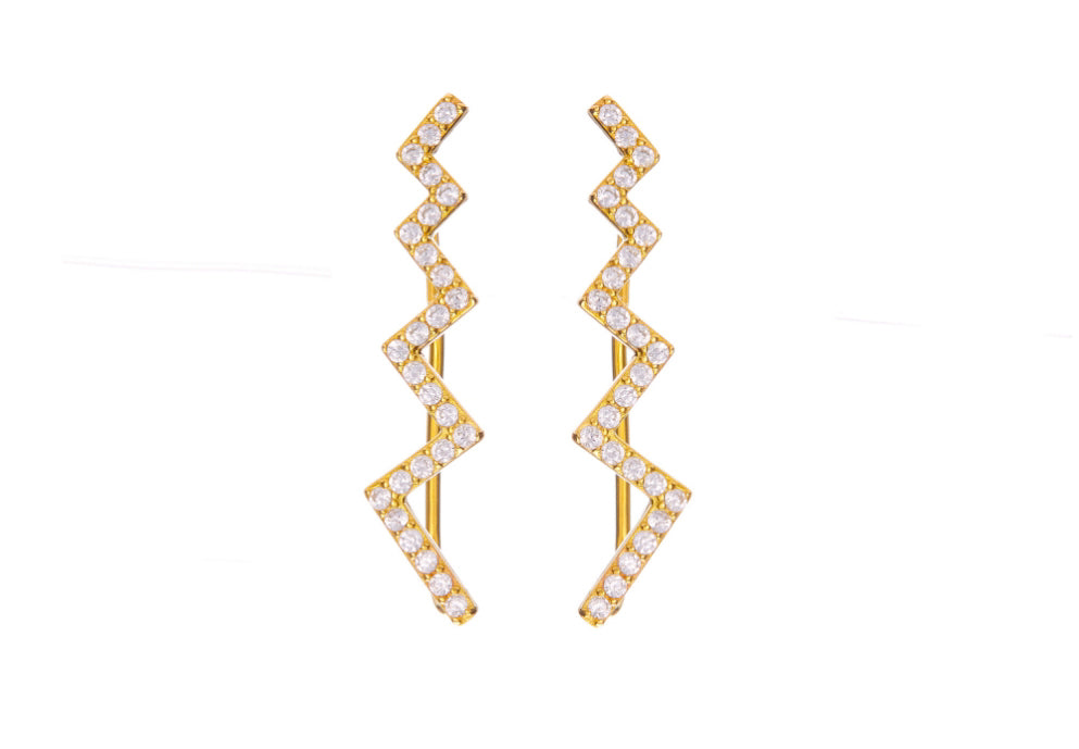 Oblique Climber Earrings