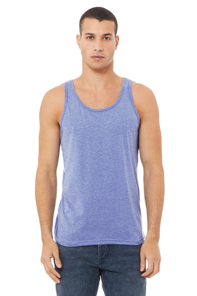 BLUE TRIBLEND ESSENTIAL JERSEY TANK