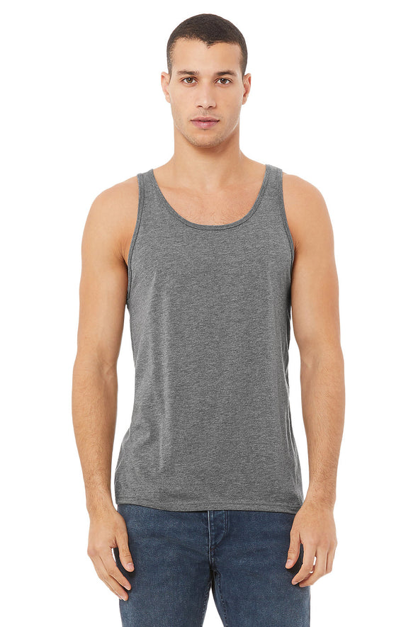 GREY TRIBLEND ESSENTIAL JERSEY TANK