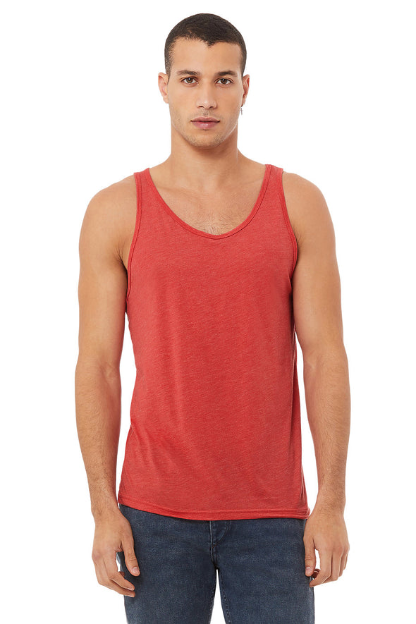 RED TRIBLEND ESSENTIAL JERSEY TANK