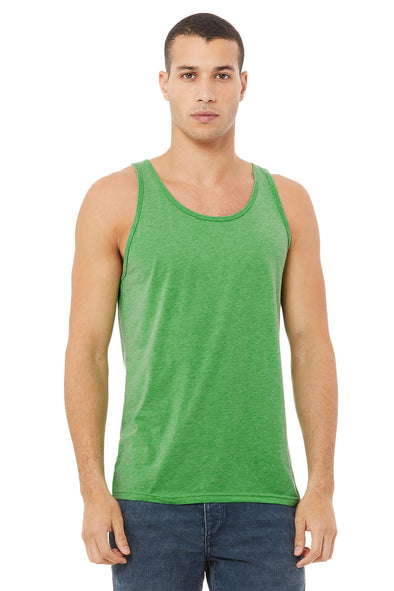 GREEN TRIBLEND ESSENTIAL JERSEY TANK