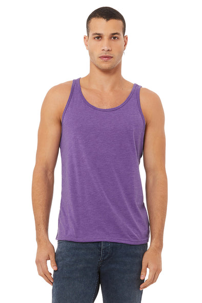 PURPLE TRIBLEND ESSENTIAL JERSEY TANK