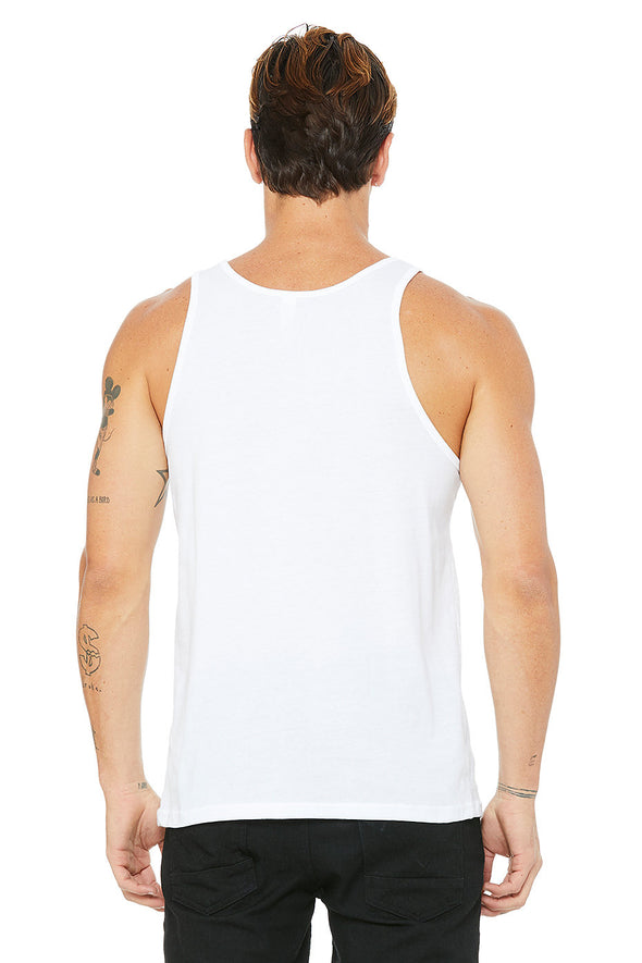WHITE ESSENTIAL JERSEY TANK