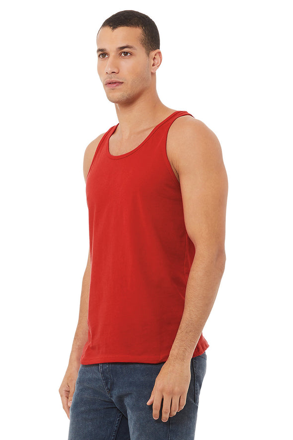 RED ESSENTIAL JERSEY TANK