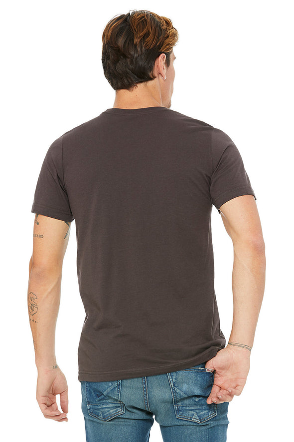 BROWN CREW NECK ESSENTIAL TEE