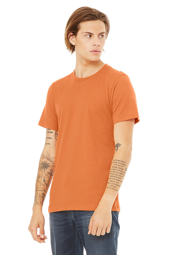 BURNT ORANGE CREW NECK ESSENTIAL TEE
