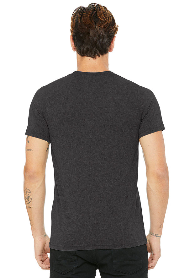 DARK GREY HEATHER CREW NECK ESSENTIAL T-SHIRT