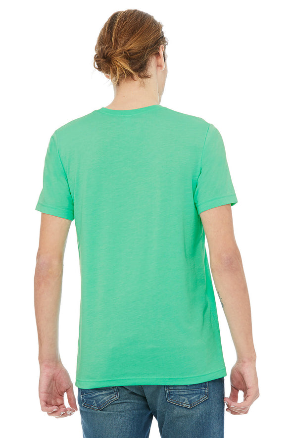 MINT HEATHER CREW NECK ESSENTIAL TEE