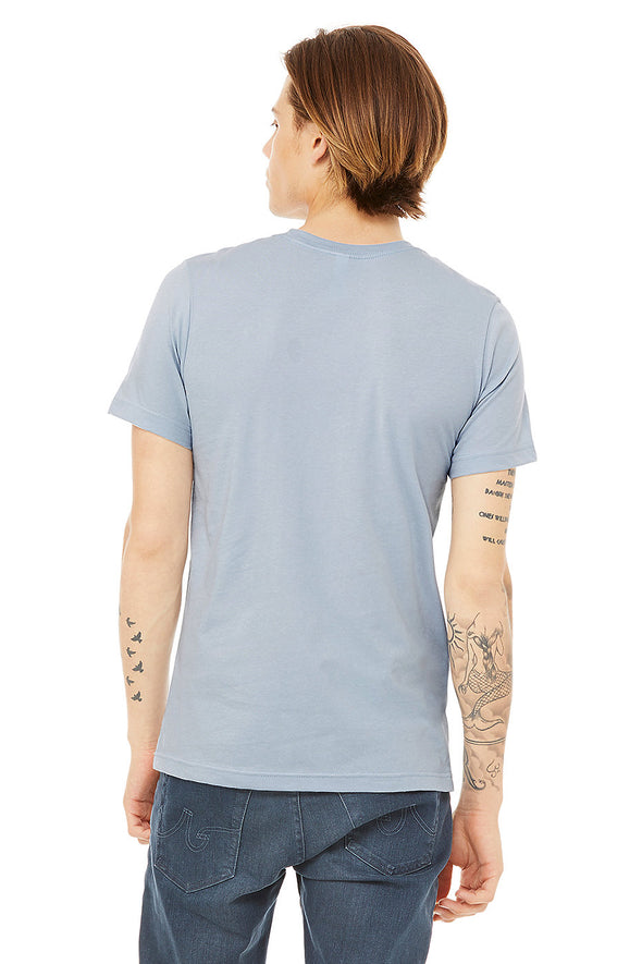 LIGHT BLUE CREW NECK ESSENTIAL TEE