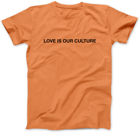 LOVE IS OUR CULTURE PRINT T-SHIRT