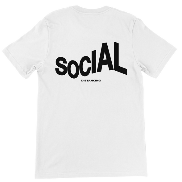 SOCIAL DISTANCING BACK PRINT T-SHIRT