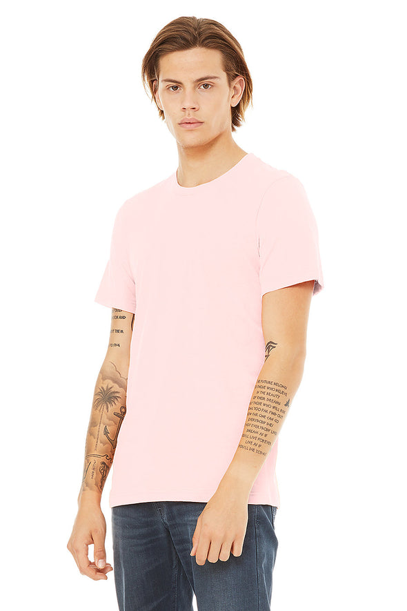 SOFT PINK CREW NECK ESSENTIAL TEE
