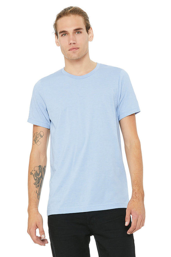 BABY BLUE CREW NECK ESSENTIAL TEE