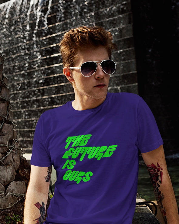 NEON THE FUTURE IS OURS PRINT T-SHIRT