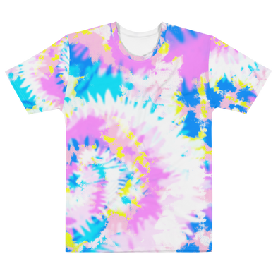 PINK BLUE YELLOW TEE - TIE DYE