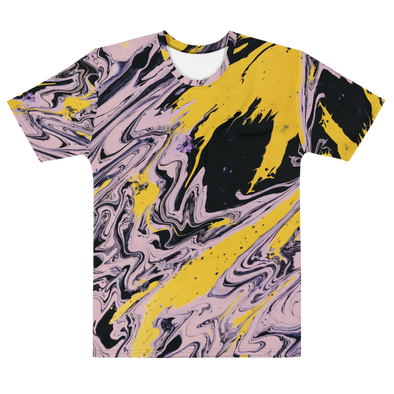 YELLOW BLACK PINK TEE - TIE DYE