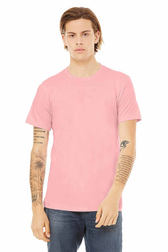 PINK CREW NECK ESSENTIAL TEE