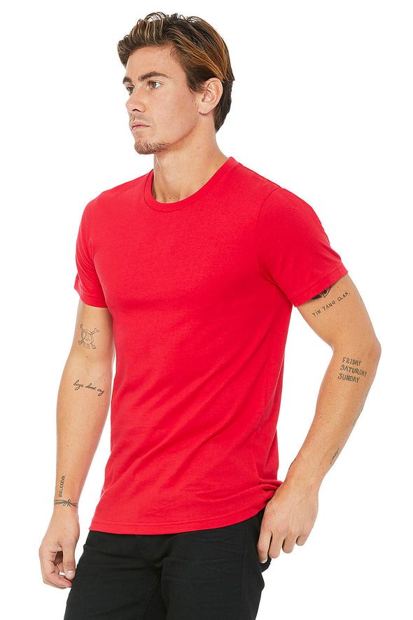 RED CREW NECK ESSENTIAL TEE